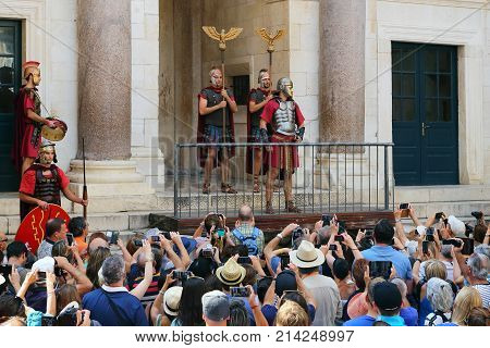 SPLIT, CROATIA - SEPTEMBER 11, 2016: This is beginning of daily show