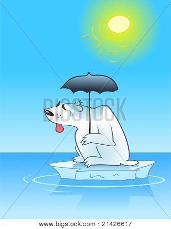 Sweating Polar Bear