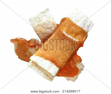 Dog Snack On White Background