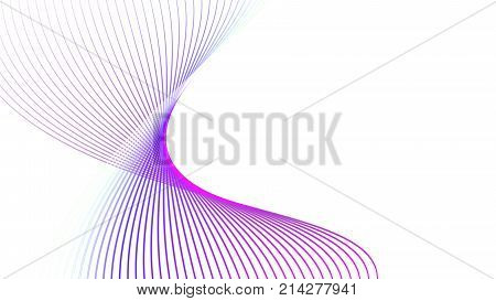 Motion graphic picture of Beautiful pink and violated curve line abstract backgroundillustration