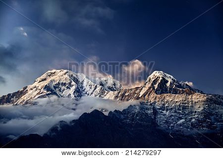 Himalayas Snow Peak At Sunset