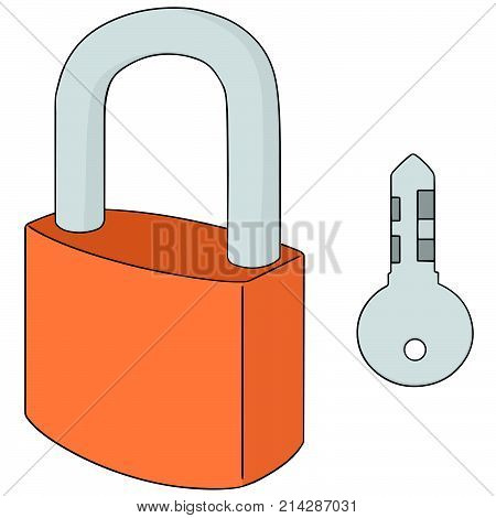 vector set of lock and key hand drawn cartoon