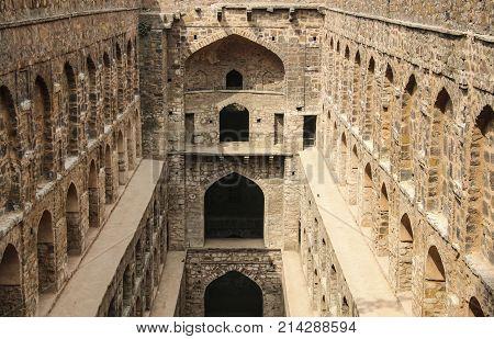Underground step-well Ugrasen ki Baoli New Delhi India