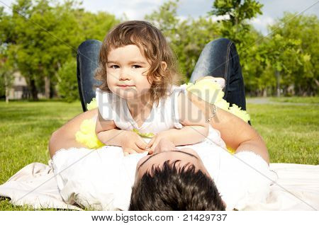 Father Plays With The Daughter