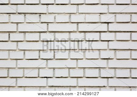 building wall made of white brick, horizontal
