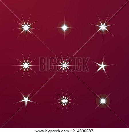 Bright Firework, Decoration Twinkle, Shiny Flash. Sparkle Lights