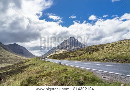 The road to Glencoe in the scottish highlands, uk