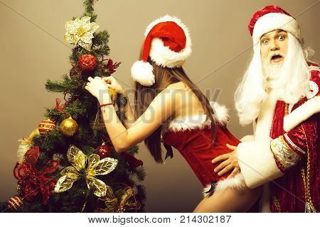 Santa Grabs Pretty Girl