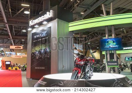 Kawasaki Motorcycles On Display
