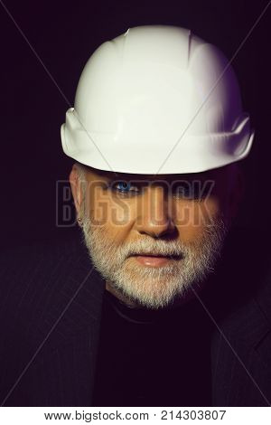 Man In White Hard Hat