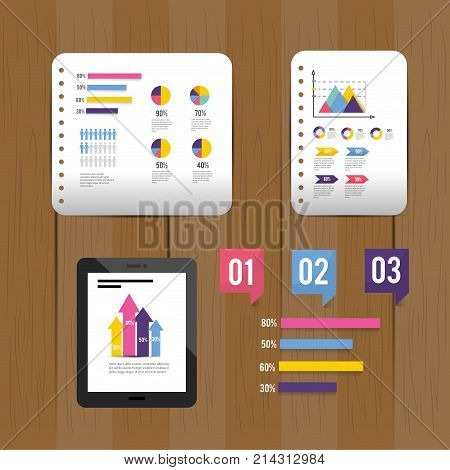 set infographi business diagram information vector illustraion