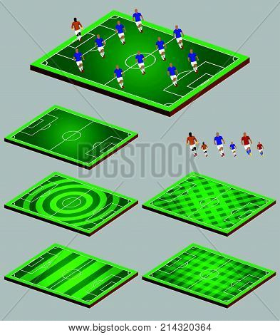 Vector illustration of soccer tactic graphic element