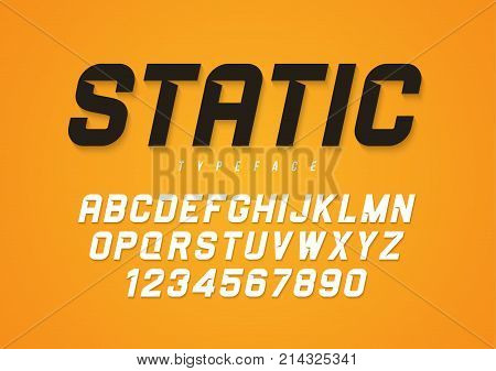 Static vector decorative bold italic font design, alphabet, typeface, typography