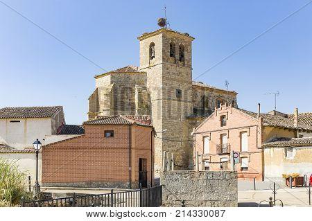 la Asuncion church in Boadilla del Camino, province of Palencia, Spain