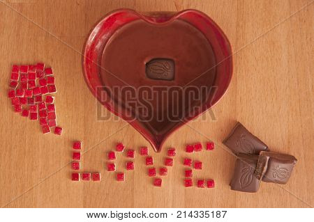 It is image about love and chocolate