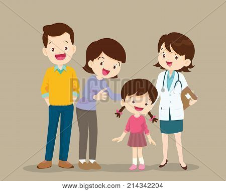 Family Visiting The Woman Woman Doctor