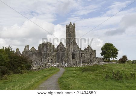 Known as Quin Abbey this ancient friary in County Clare Ireland is one of the best preserved ruins from the 12th century.