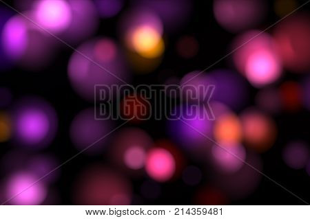 Delicate Pink Yellow Circle Bokeh Lights. Computer Generated Loopable Abstract Motion Background, Sl