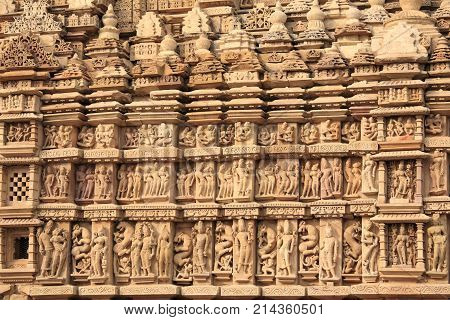 The temples in Khajuraho, UNESCO world heritage site
