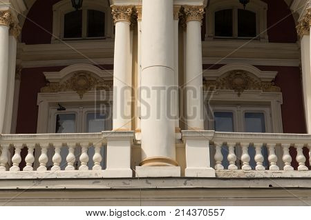 Venetian architecture. An ancient building in the Venetian style of architecture
