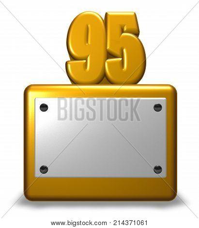 number ninety-five on socket - 3d rendering