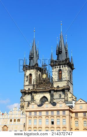Church of Mother of God before Týn is a gothic church and a dominant feature of the Old Town of Prague
