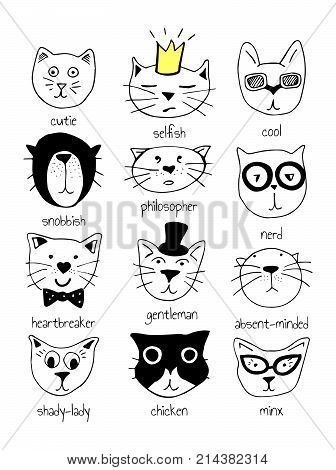Cats Characters Set