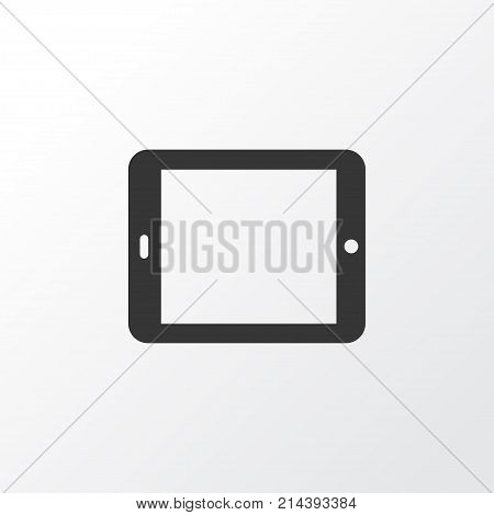 Tablet Icon Symbol. Premium Quality Isolated Palmtop Element In Trendy Style.