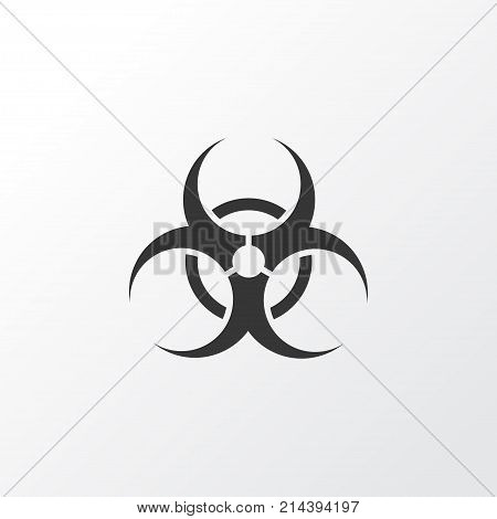 Bio-Hazard Icon Symbol. Premium Quality Isolated Nuclear Element In Trendy Style.