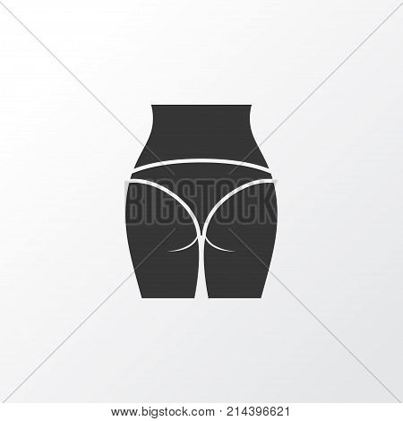 Butt Icon Symbol. Premium Quality Isolated Buttocks Element In Trendy Style.