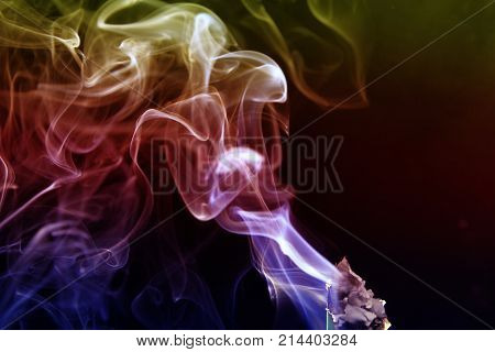 Smoke abstract as wallpaper / Smoke is a collection of airborne solid and liquid particulates and gases emitted when a material undergoes combustion or pyrolysis