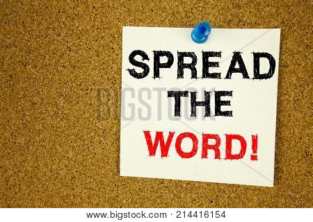 Conceptual Hand Writing Text Caption Inspiration Showing Spread The Word. Business Concept For Annou