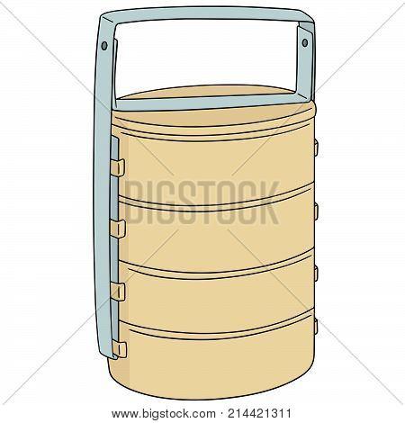 vector set of food carrier hand drawn cartoon