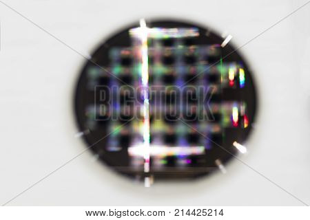 Semiconductor wafer disk , Blur image