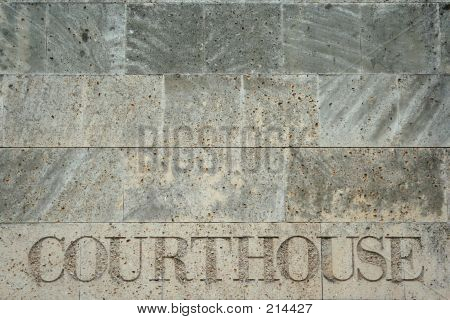 exterior wall of courthouse in charlotte, north carolina poster