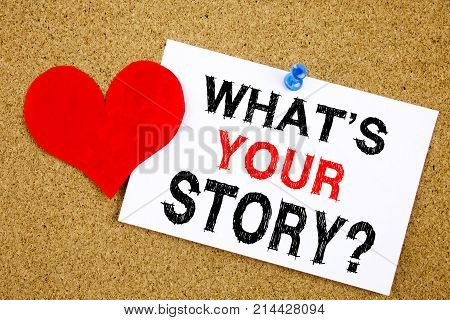 Conceptual Hand Writing Text Caption Inspiration Showing Question What Is Your Story Concept For Sha