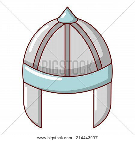 Knight helmet guard icon. Cartoon illustration of knight helmet guard vector icon for web