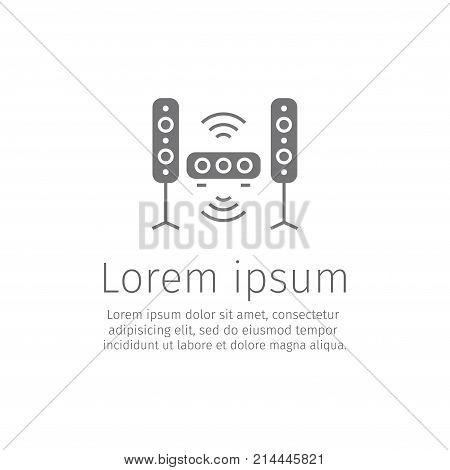 Stereo system line icon Vector signs for web graphics