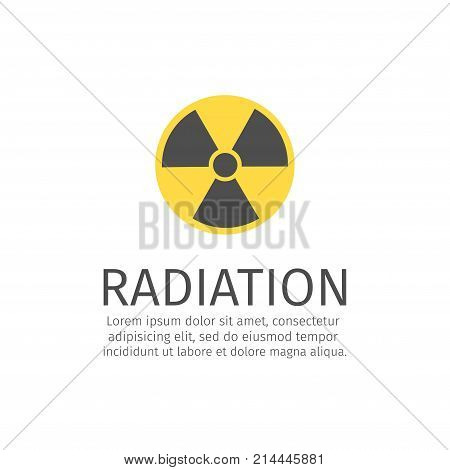 Radiation line icon. Vector sign for web graphic. poster