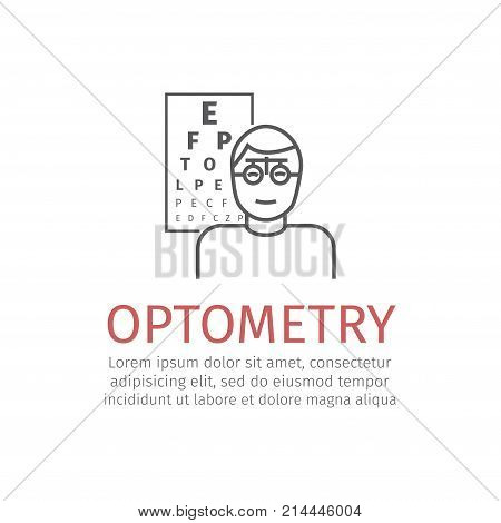Optometry line icon Vector signs for web graphics