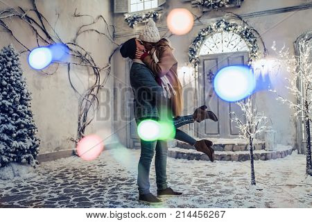Couple Outdoor In Winter
