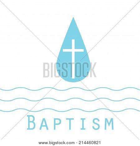 Beach Baptism Invitation Template