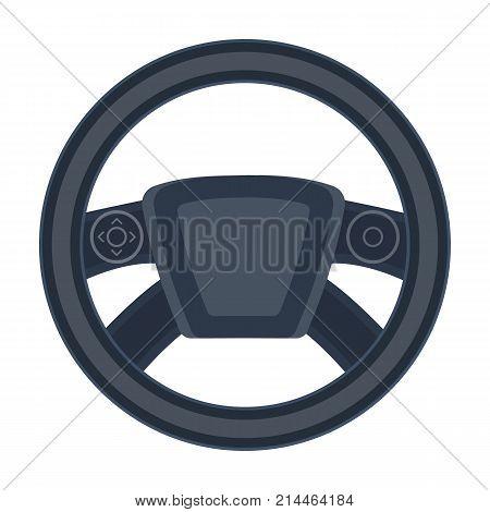 Steering wheel single icon in cartoon style for design.Car maintenance station vector symbol stock illustration .