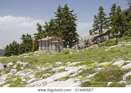 Little Church On Parnassos Mountain