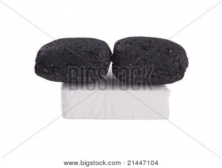 Black Coal And White Firelighter