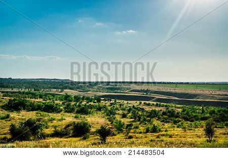 landscape field mountain expanse trip to the South of Russia Bashkiria Urals Ural mountains
