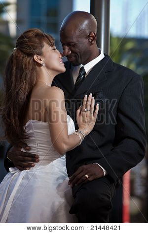 Modern Attractive Multi Racial Couple