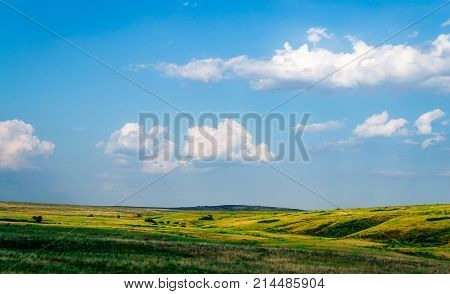 Landscape Field Mountain Expanse