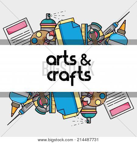 art and craft creative object design vector illustration