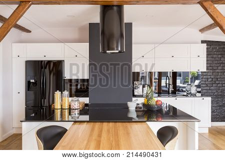 Modern Contrast Color Kitchen